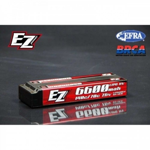 EZ POWER LIPO HARD CASE HV 6600 2S
