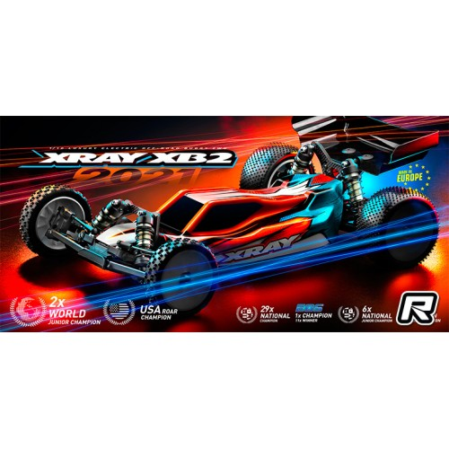 Xray XB2D'21 - 1/10 Off-Road Car 2WD - Dirt Edition