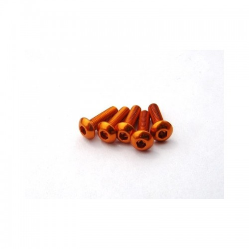 Alloy Hex Socket Button Head Screw M3x10 [Orange] (5)