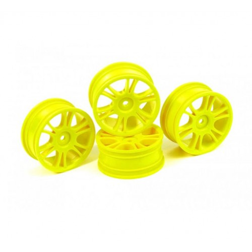 Hudy 24mm Split Starburst Hard 4 pcs Yellow