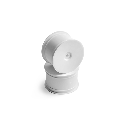 2WD/4WD REAR WHEEL AERODISK WITH 12MM HEX IFMAR - WHITE (2)