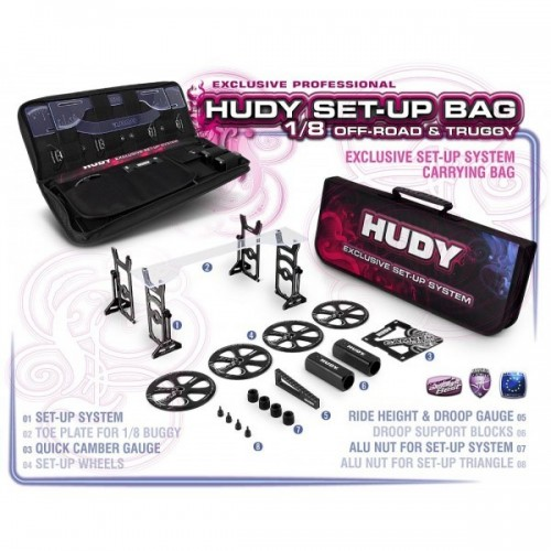 HUDY SET-UP BAG FOR 1/8 OFF-ROAD CARS - EXCLUSIVE EDITION