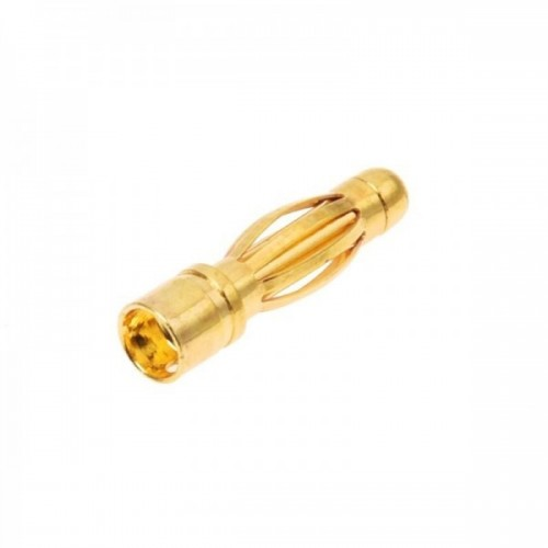 Gold Banana Connector 4x15mm Male (5 pcs)