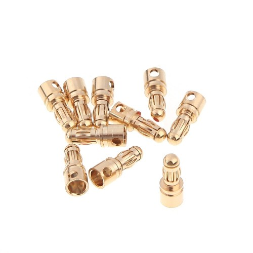 Gold Banana Connector 3.5mm Male (10 pcs)