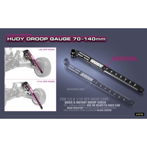 Hudy Chassis Droop Gauge 70~140mm